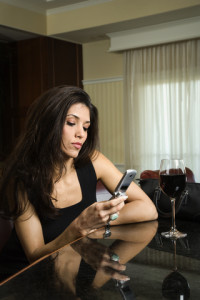 divorced woman alone bar