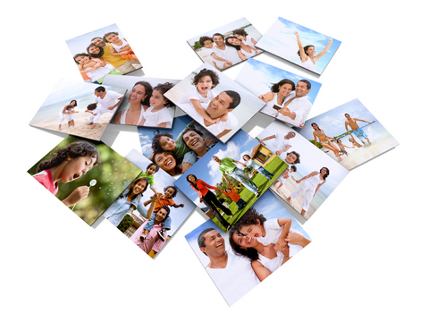 blended families photos in house